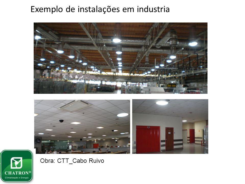 Exemplo de instalações em industria Obra: Continente_Quinta do Conde