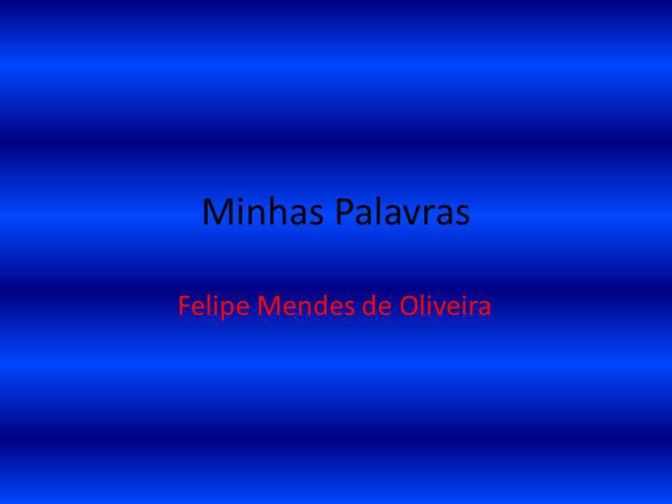 Minhas Palavras Felipe Mendes de Oliveira