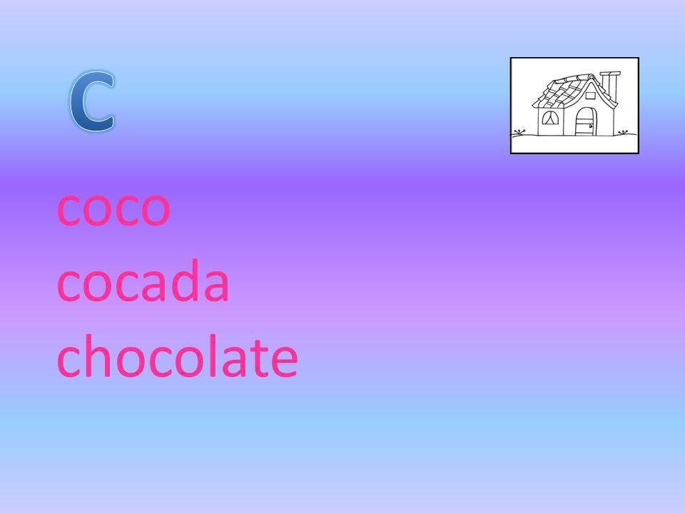 coco cocada chocolate