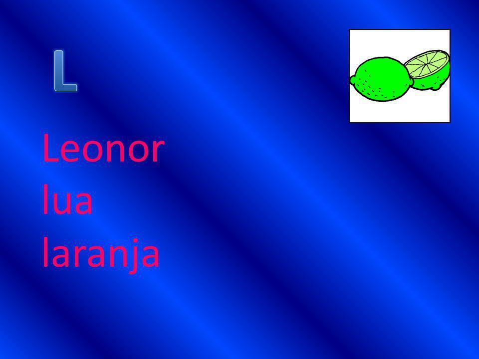 Leonor lua laranja