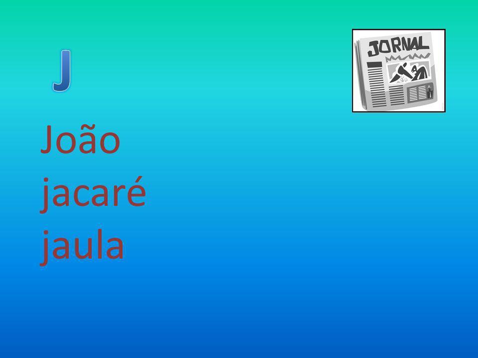 João jacaré jaula