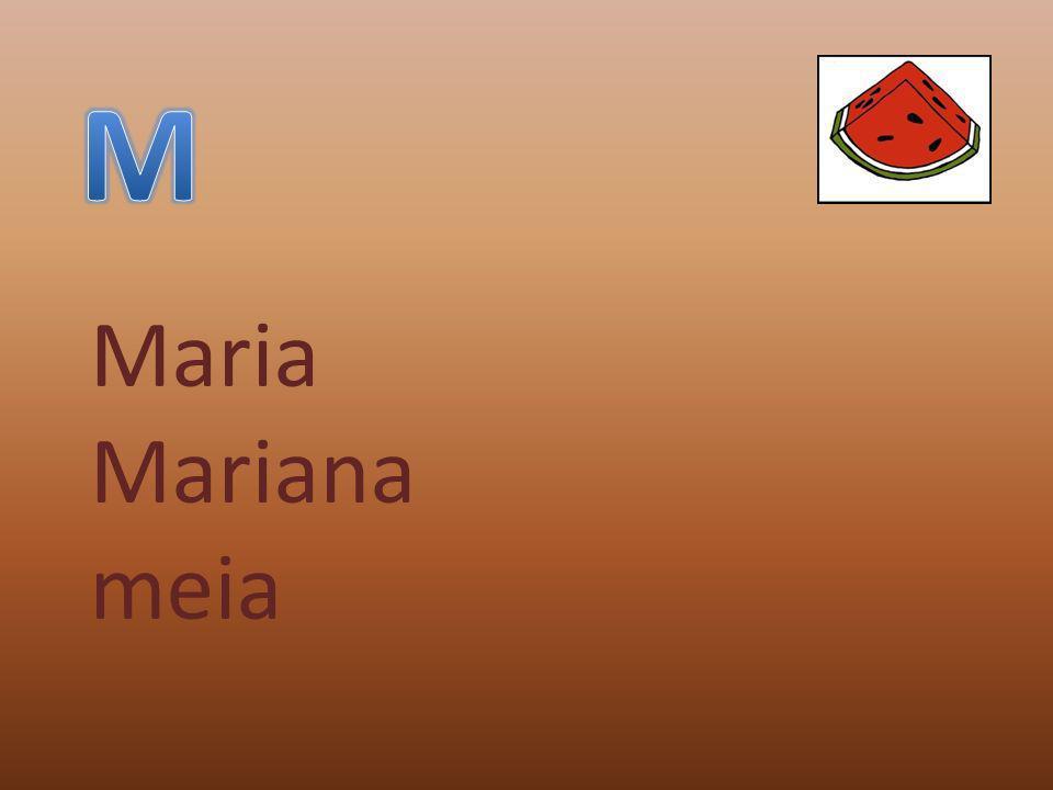 Maria Mariana meia