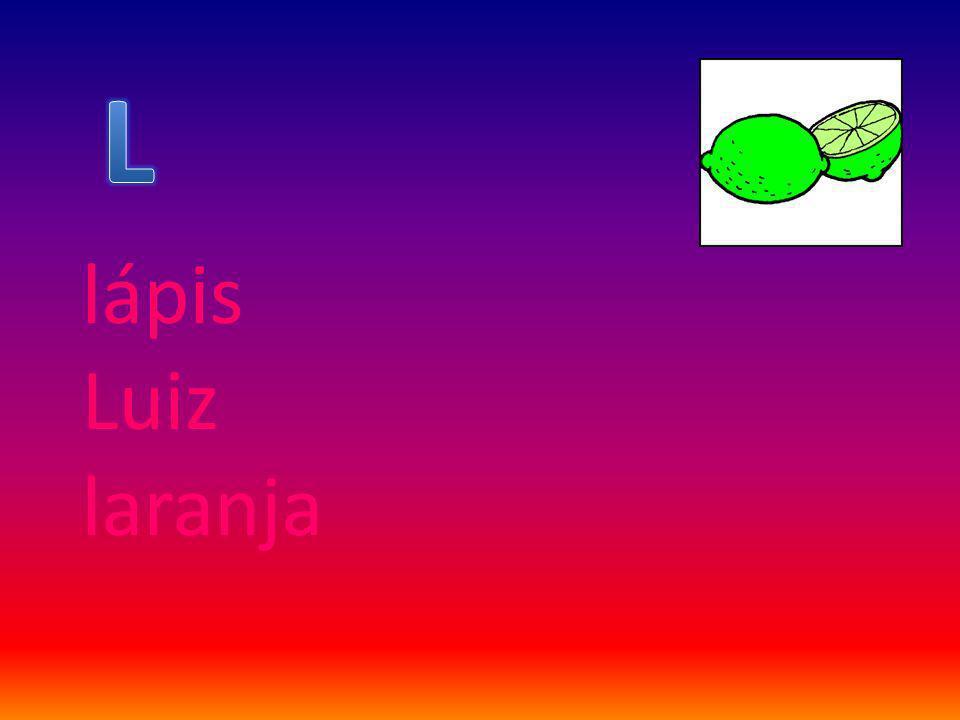 lápis Luiz laranja
