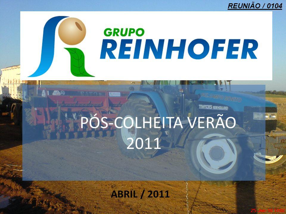 PÓS-COLHEITA VERÃO 2011 ABRIL / 2011 REUNIÃO / 0104