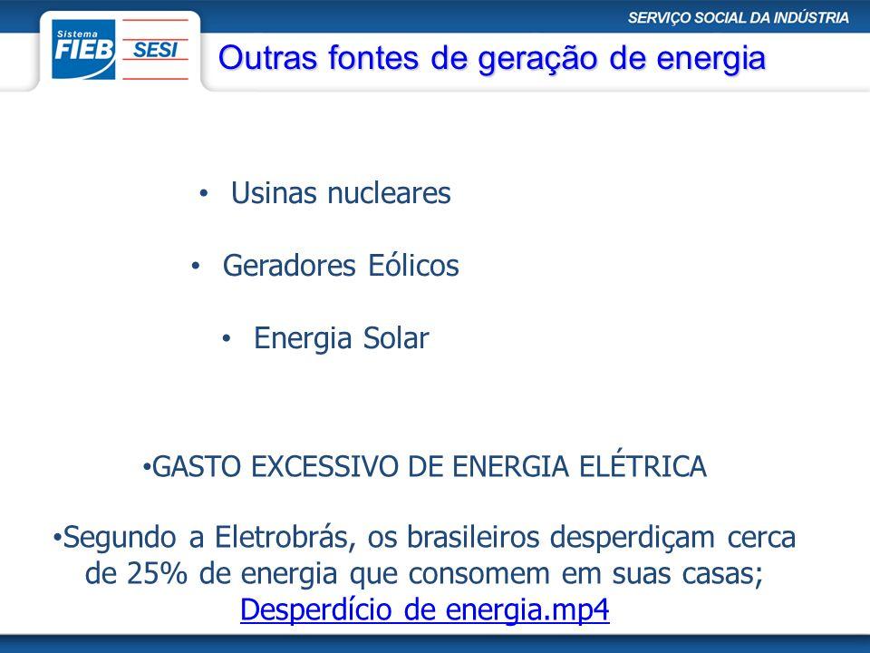 GASTO EXCESSIVO DE ENERGIA ELÉTRICA Segundo a Eletrobrás, os brasileiros desperdiçam cerca de 25% de energia que consomem em suas casas; Desperdício d