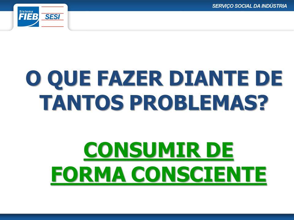 O QUE FAZER DIANTE DE TANTOS PROBLEMAS? CONSUMIR DE FORMA CONSCIENTE