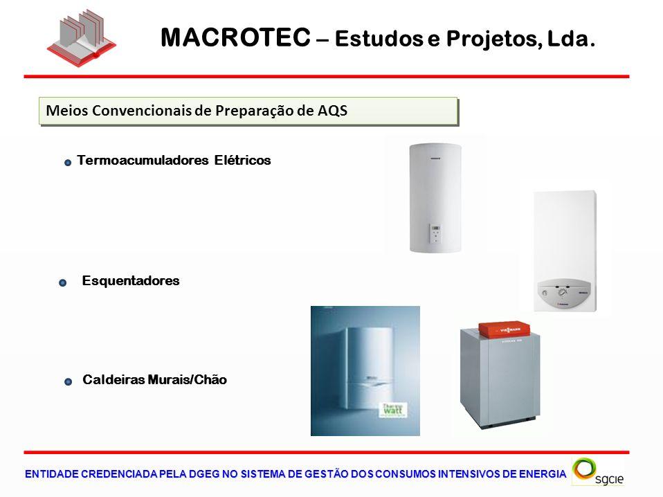 MACROTEC – Estudos e Projetos, Lda. ENTIDADE CREDENCIADA PELA DGEG NO SISTEMA DE GESTÃO DOS CONSUMOS INTENSIVOS DE ENERGIA Meios Convencionais de Prep