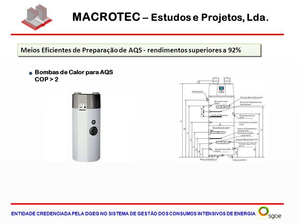 MACROTEC – Estudos e Projetos, Lda. ENTIDADE CREDENCIADA PELA DGEG NO SISTEMA DE GESTÃO DOS CONSUMOS INTENSIVOS DE ENERGIA Meios Eficientes de Prepara