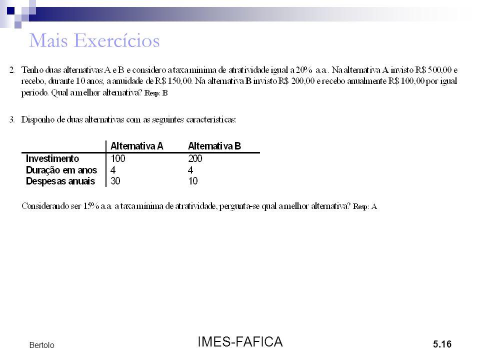5.16 IMES-FAFICA Bertolo Mais Exercícios