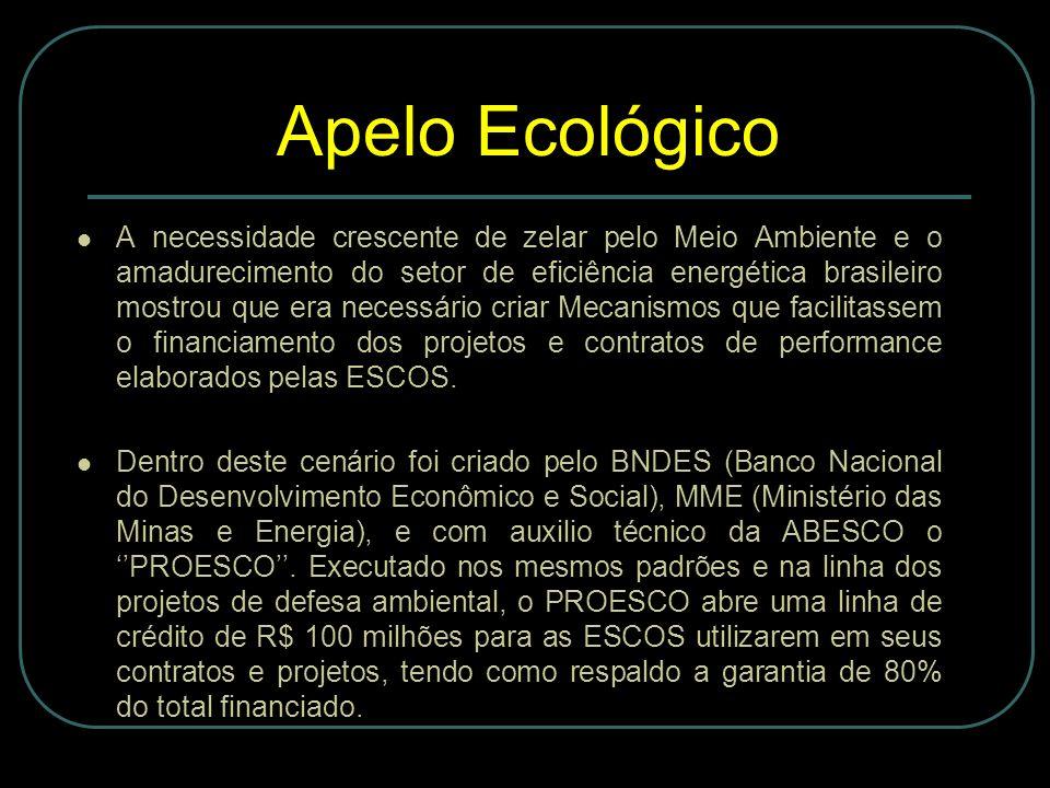 A necessidade crescente de zelar pelo Meio Ambiente e o amadurecimento do setor de eficiência energética brasileiro mostrou que era necessário criar Mecanismos que facilitassem o financiamento dos projetos e contratos de performance elaborados pelas ESCOS.