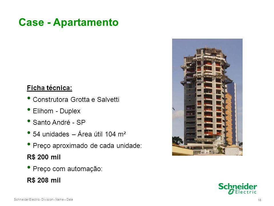 Schneider Electric 18 - Division - Name – Date Case - Apartamento Ficha técnica: Construtora Grotta e Salvetti Elihom - Duplex Santo André - SP 54 uni