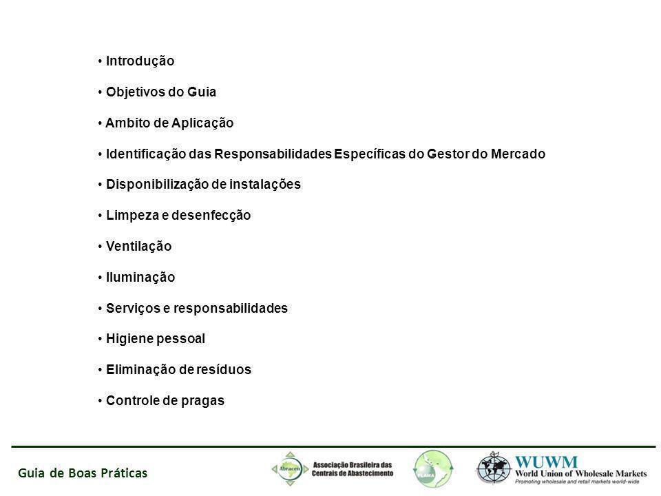 Guia de Boas Práticas Introdução Objetivos do Guia Ambito de Aplicação Identificação das Responsabilidades Específicas do Gestor do Mercado Disponibil