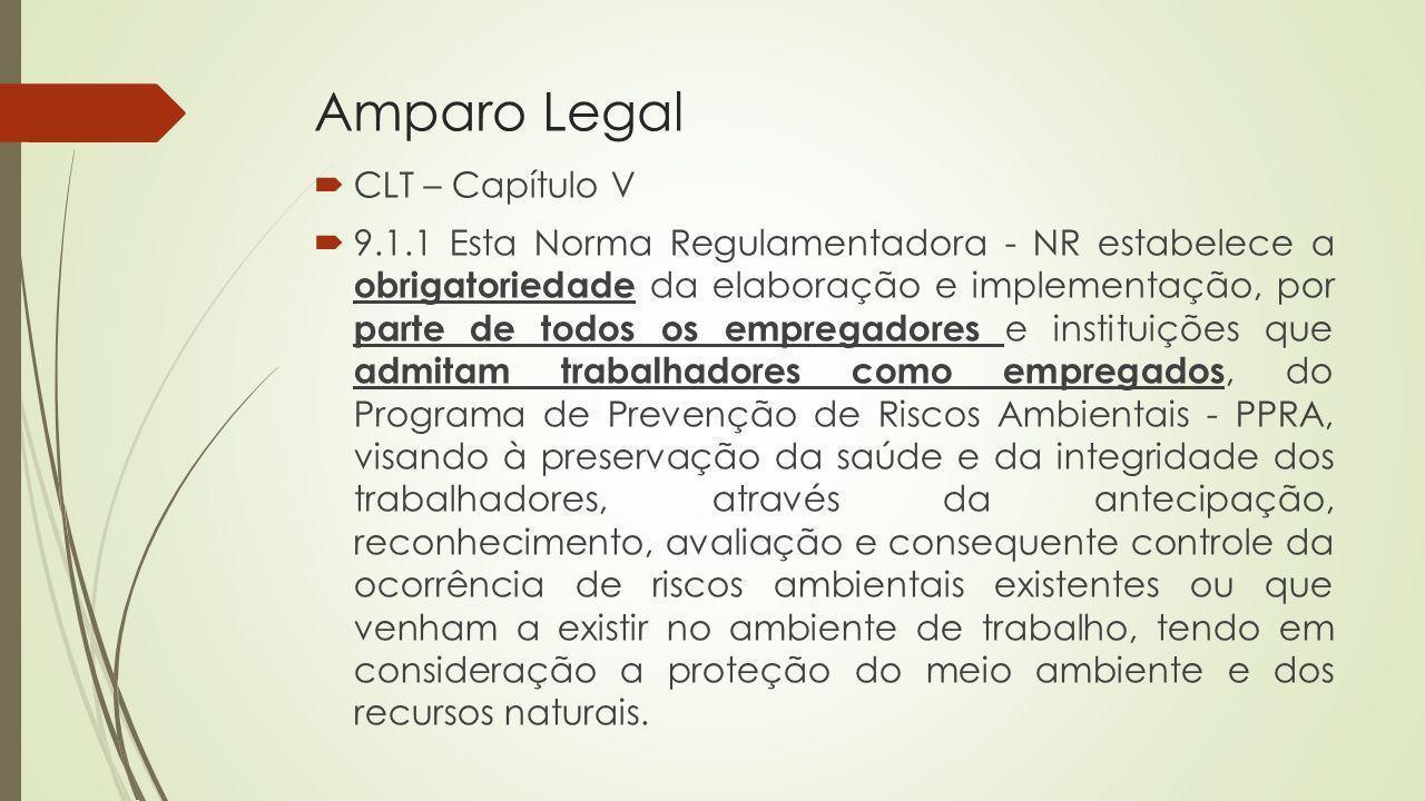 Amparo Legal CLT – Capítulo V 9.1.1 Esta Norma Regulamentadora - NR estabelece a obrigatoriedade da elaboração e implementação, por parte de todos os