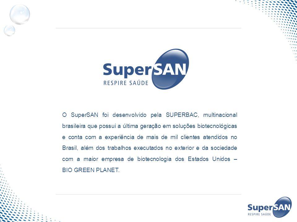O SuperSAN foi desenvolvido pela SUPERBAC, multinacional brasileira que possui a última geração em soluções biotecnológicas e conta com a experiência