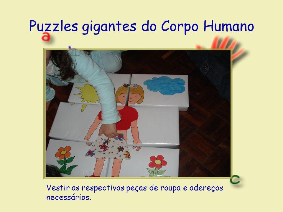 Puzzles gigantes do Corpo Humano Vestir as respectivas peças de roupa e adereços necessários.