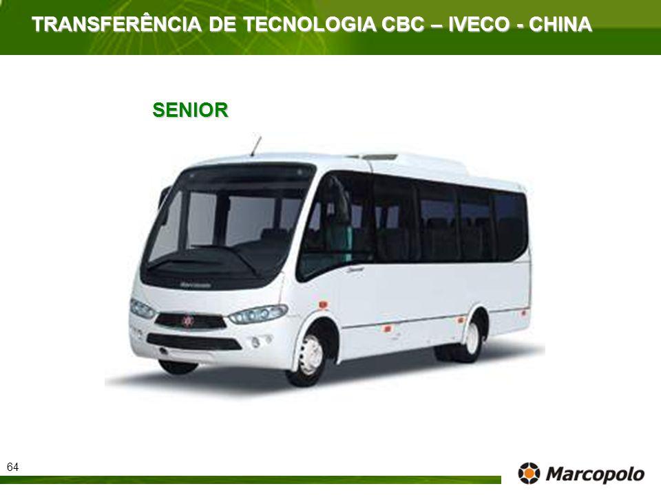 TRANSFERÊNCIA DE TECNOLOGIA CBC – IVECO - CHINA SENIOR 64