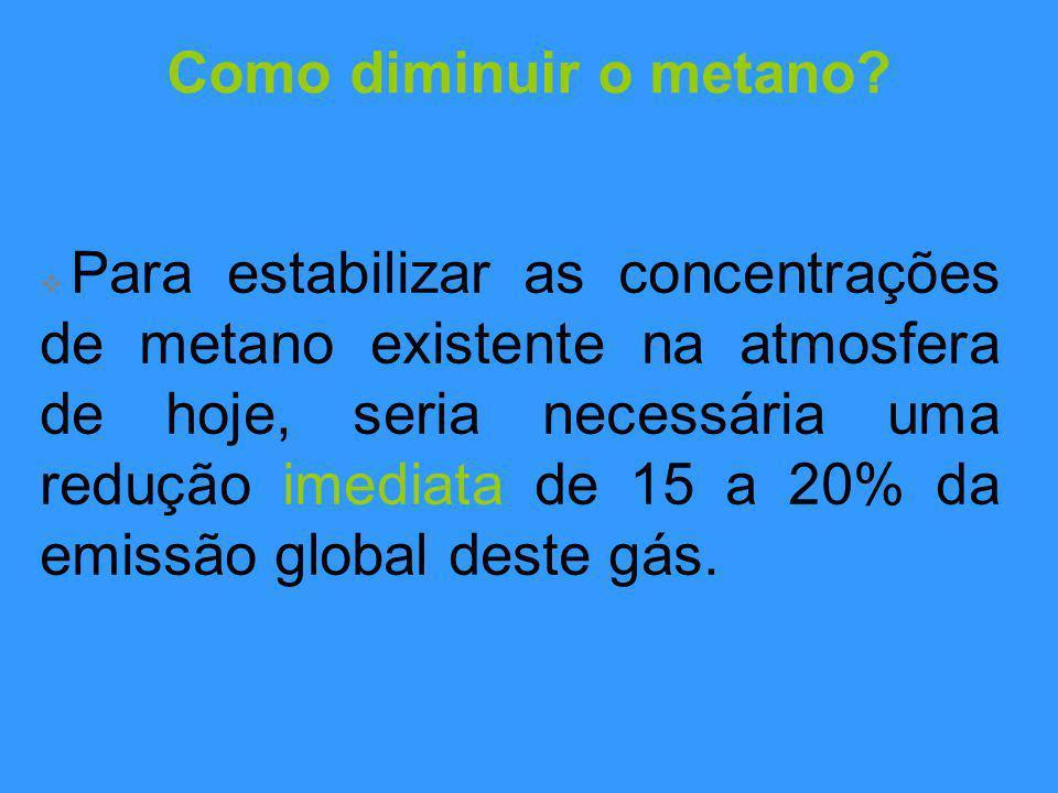 Como diminuir o metano.
