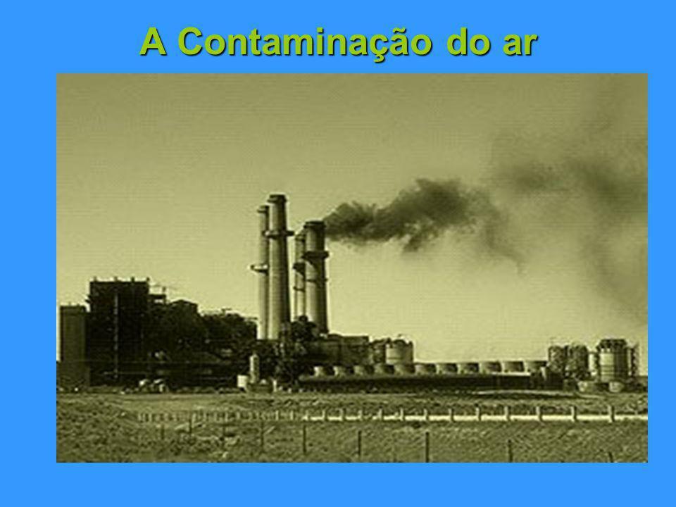A Contaminação do ar A atmosfera do planeta é uma excepção na medida em que é dos raros recursos naturais que é compartilhado pelo mundo inteiro.