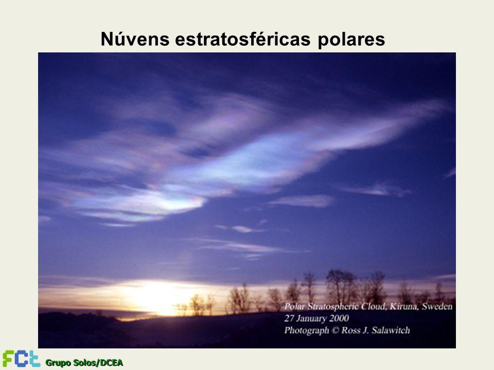 Grupo Solos/DCEA Núvens estratosféricas polares