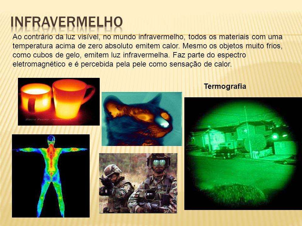 Ao contrário da luz visível, no mundo infravermelho, todos os materiais com uma temperatura acima de zero absoluto emitem calor.