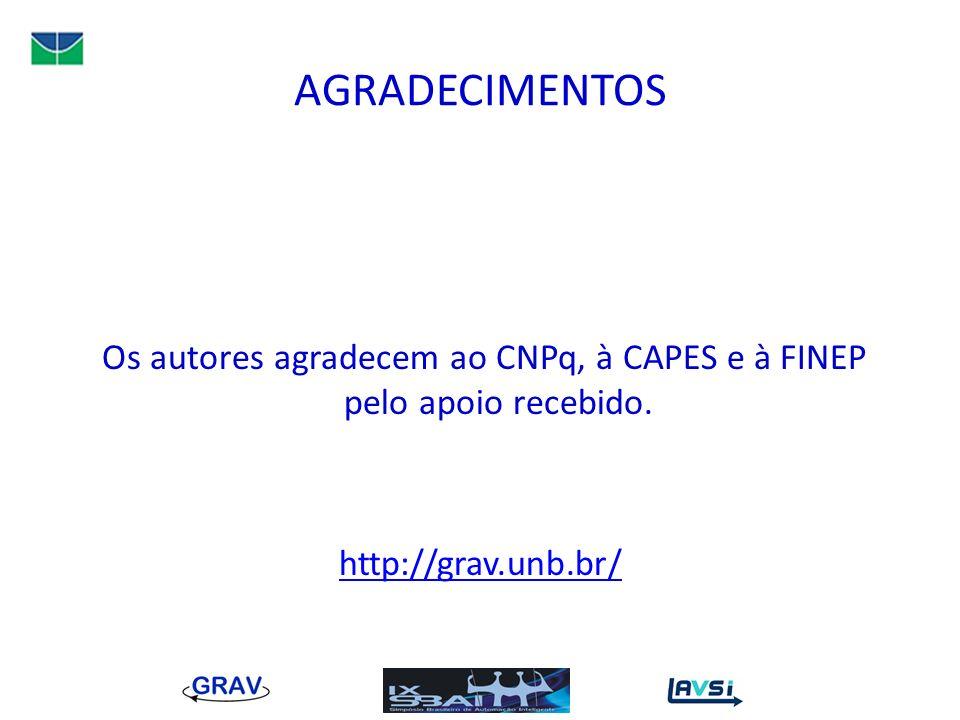AGRADECIMENTOS Os autores agradecem ao CNPq, à CAPES e à FINEP pelo apoio recebido. http://grav.unb.br/