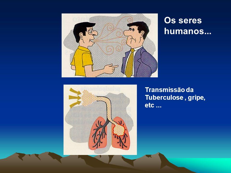 Transmissão da Tuberculose, gripe, etc... Os seres humanos...