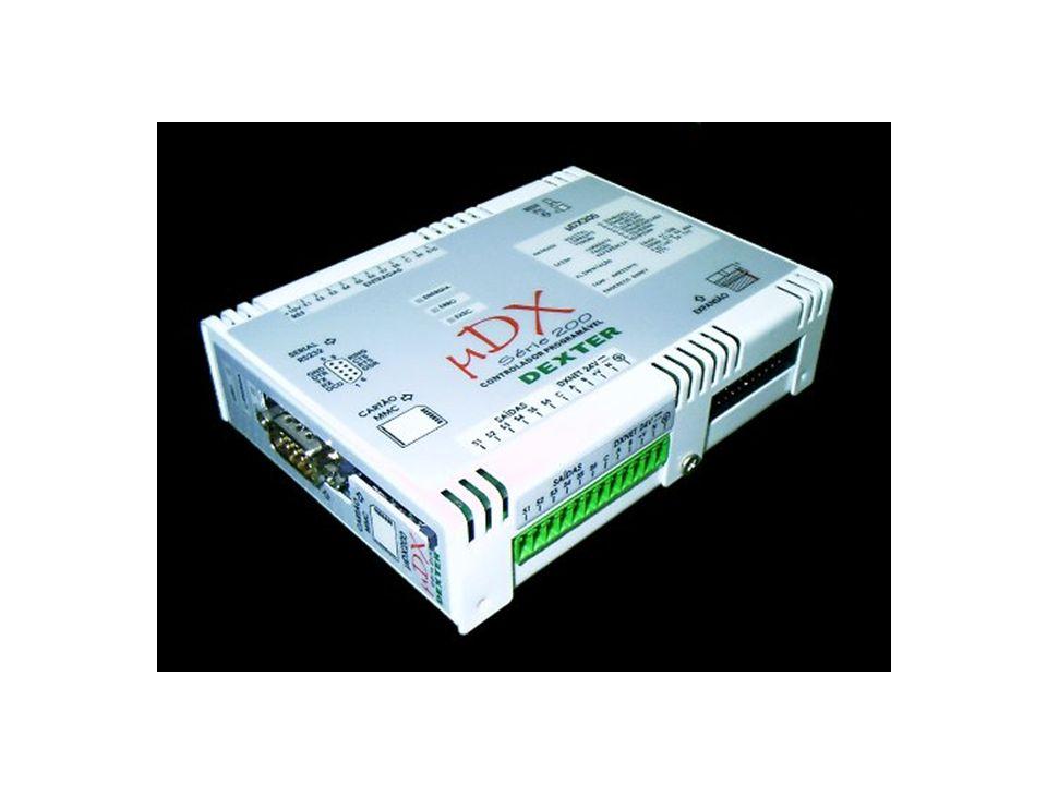Módulo Modem e RS 485/RS 232 Modem que permite estender a rede DXNET via rede telefônica discada.