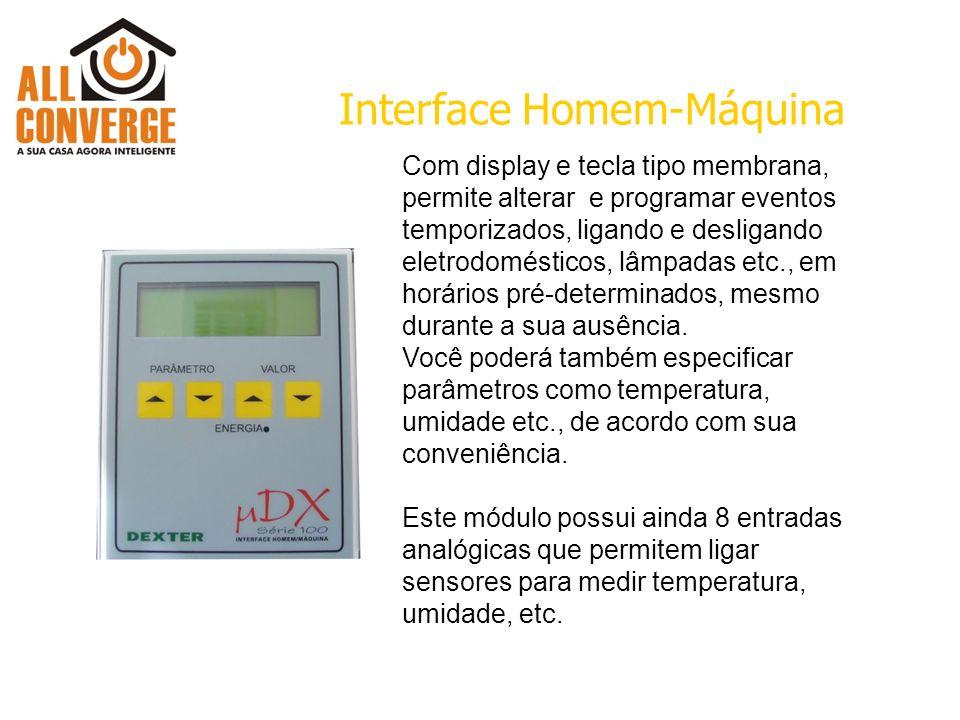 Com display e tecla tipo membrana, permite alterar e programar eventos temporizados, ligando e desligando eletrodomésticos, lâmpadas etc., em horários pré-determinados, mesmo durante a sua ausência.