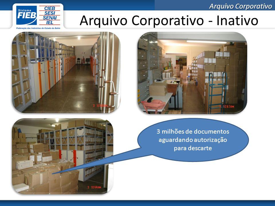 Arquivo Corporativo Guarda interna dos arquivos Esta opção consiste na construção ou reforma de um prédio para abrigar o arquivo intermediário e inativo contemplando os requisitos necessários para a guarda de documentos.