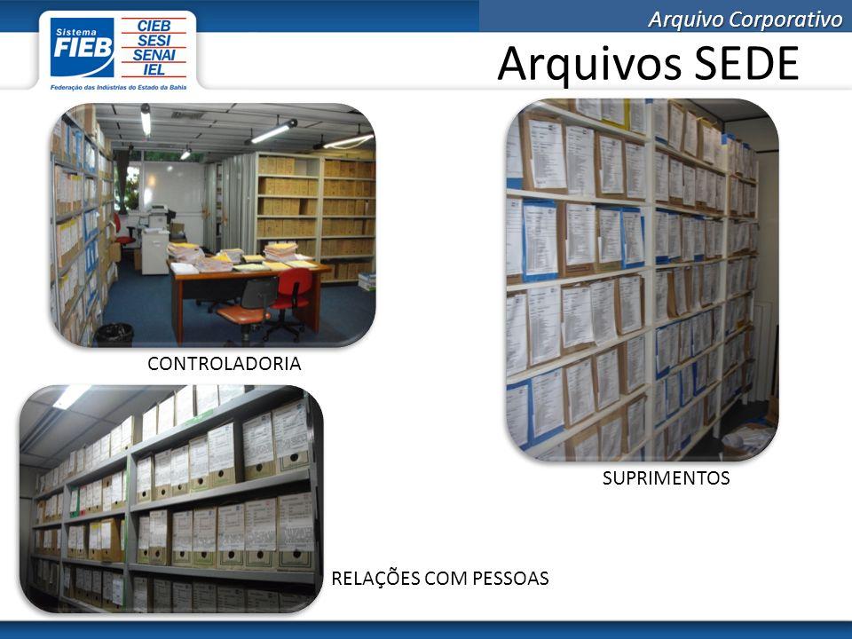 Arquivo Corporativo Custo com locação de espaços O arquivo corporativo, localizado no Dendezeiros, possui área de 260 m².