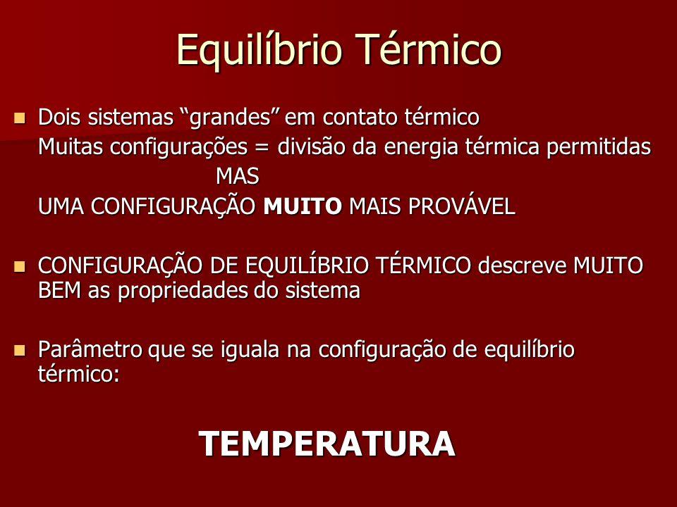 Temperatura Temperatura fundamental Temperatura fundamental Unidade: energia g=n o.