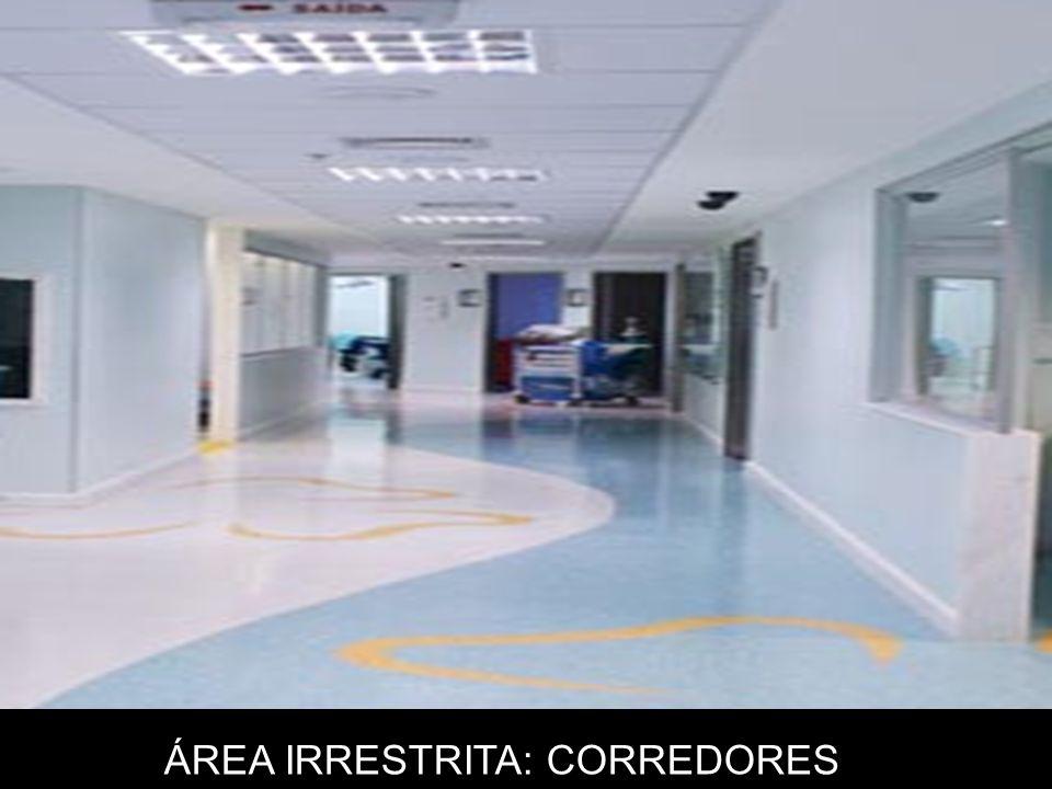 Área Semi-restrita: Aquela que permite a circulação de pessoal e de modo a não intervir nas rotinas de controle e manutenção da assepsia da área restrita.