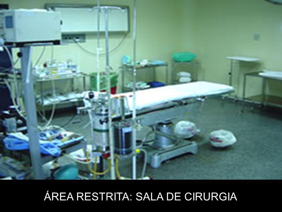 ÁREA RESTRITA: SALA DE CIRURGIA