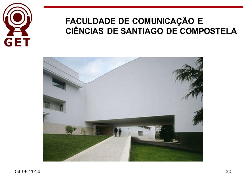 FACULDADE DE COMUNICAÇÃO E CIÊNCIAS DE SANTIAGO DE COMPOSTELA 04-05-201430