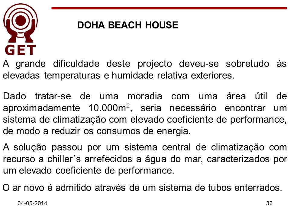 DOHA BEACH HOUSE 04-05-201436 A grande dificuldade deste projecto deveu-se sobretudo às elevadas temperaturas e humidade relativa exteriores. A soluçã