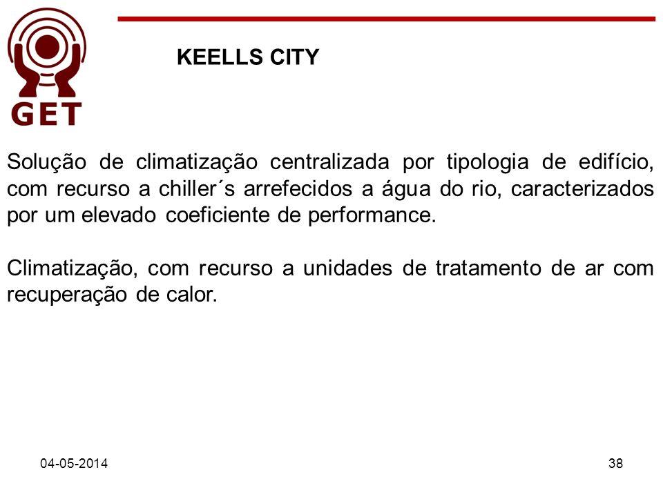 KEELLS CITY 04-05-201438 Solução de climatização centralizada por tipologia de edifício, com recurso a chiller´s arrefecidos a água do rio, caracteriz