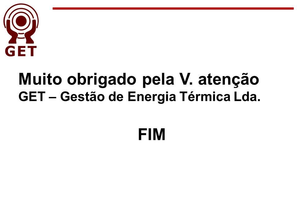 Muito obrigado pela V. atenção GET – Gestão de Energia Térmica Lda. FIM
