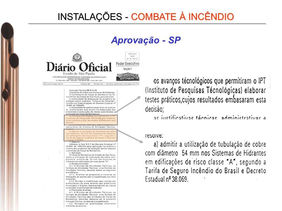 Aprovação - SP INSTALAÇÕES - COMBATE À INCÊNDIO
