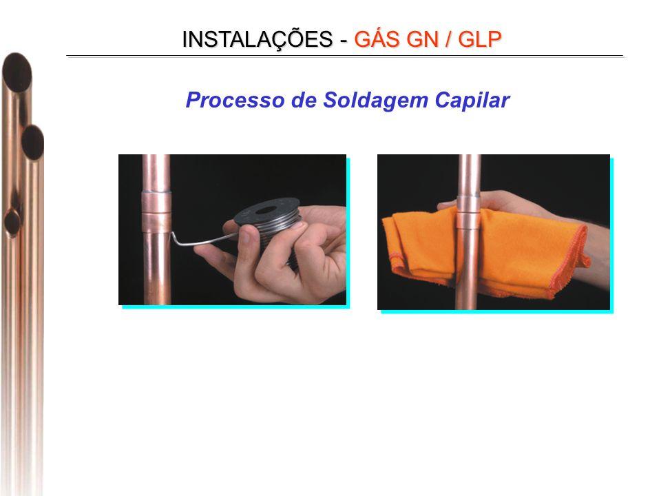 INSTALAÇÕES - GÁS GN / GLP Processo de Soldagem Capilar