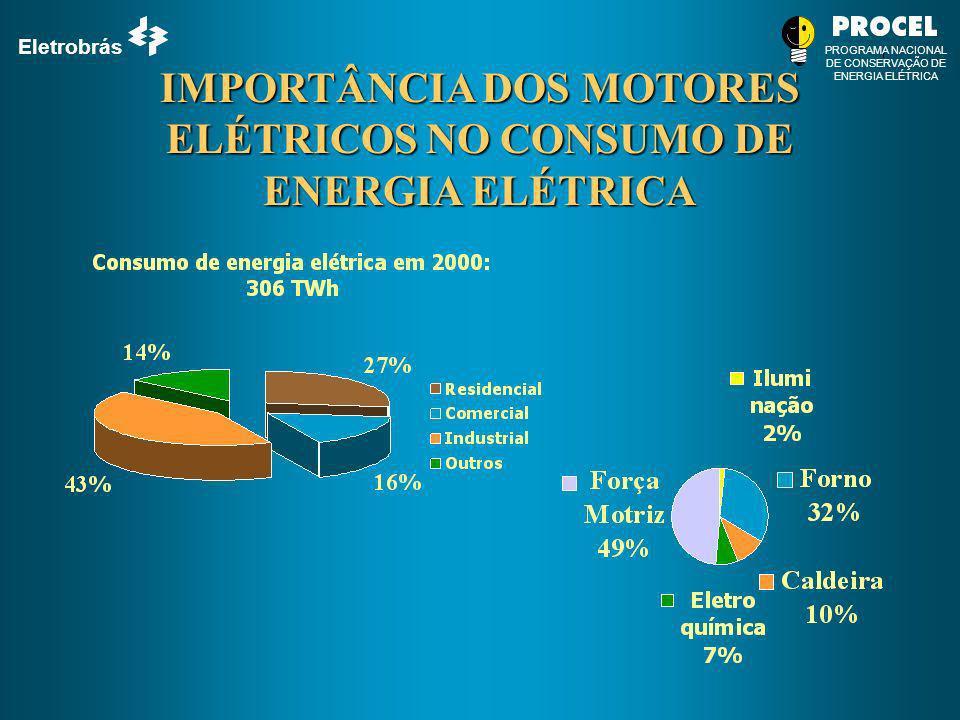 Eletrobrás PROGRAMA NACIONAL DE CONSERVAÇÃO DE ENERGIA ELÉTRICA IMPORTÂNCIA DOS MOTORES ELÉTRICOS NO CONSUMO DE ENERGIA ELÉTRICA