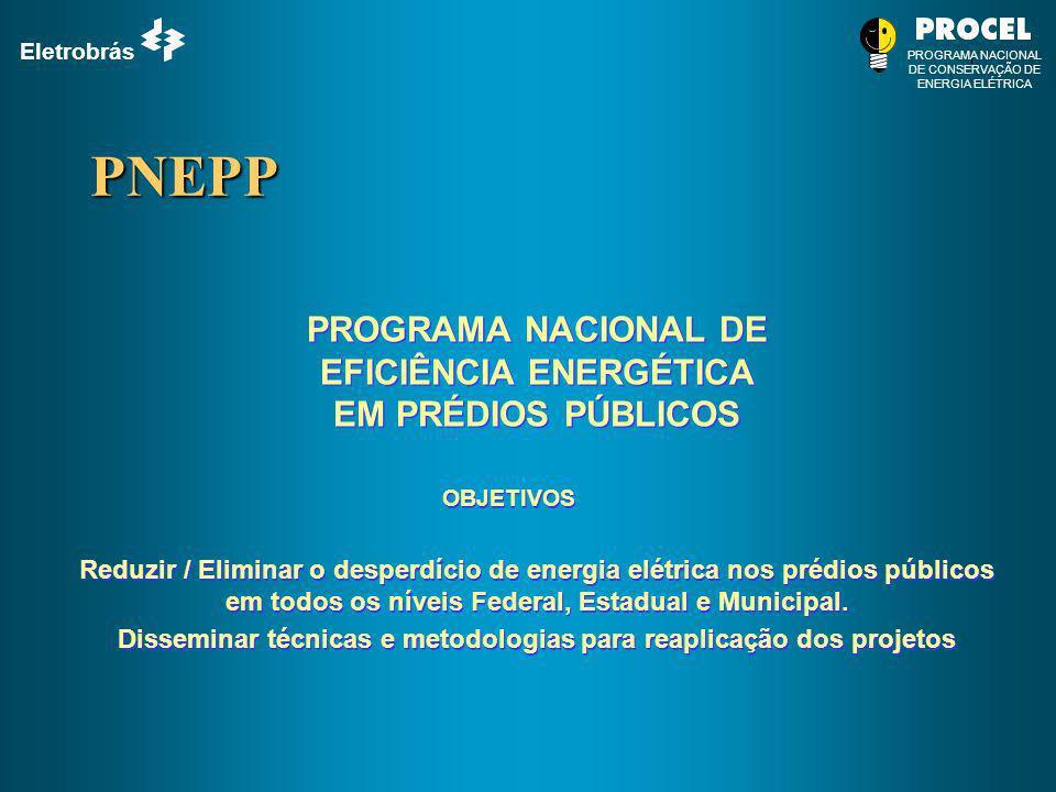 Eletrobrás PROGRAMA NACIONAL DE CONSERVAÇÃO DE ENERGIA ELÉTRICA PNEPP PROGRAMA NACIONAL DE EFICIÊNCIA ENERGÉTICA EM PRÉDIOS PÚBLICOS PROGRAMA NACIONAL