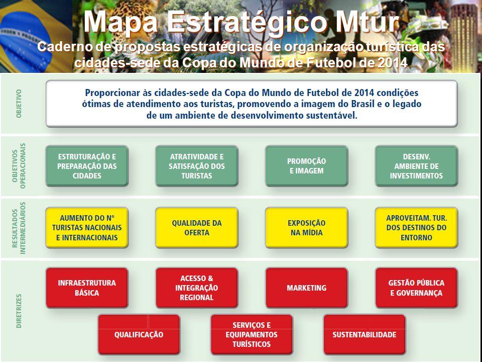 Mapa Estratégico Mtur Caderno de propostas estratégicas de organização turística das cidades-sede da Copa do Mundo de Futebol de 2014 4/5/20148