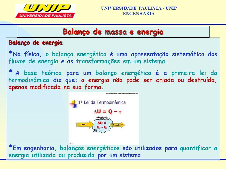 Balanço de energia Na física, o balanço energético é uma apresentação sistemática dos fluxos de energia e as transformações em um sistema. A base teór