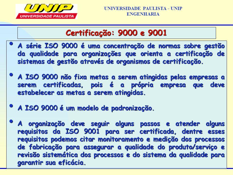 A série ISO 9000 é uma concentração de normas sobre gestão da qualidade para organizações que orienta a certificação de sistemas de gestão através de