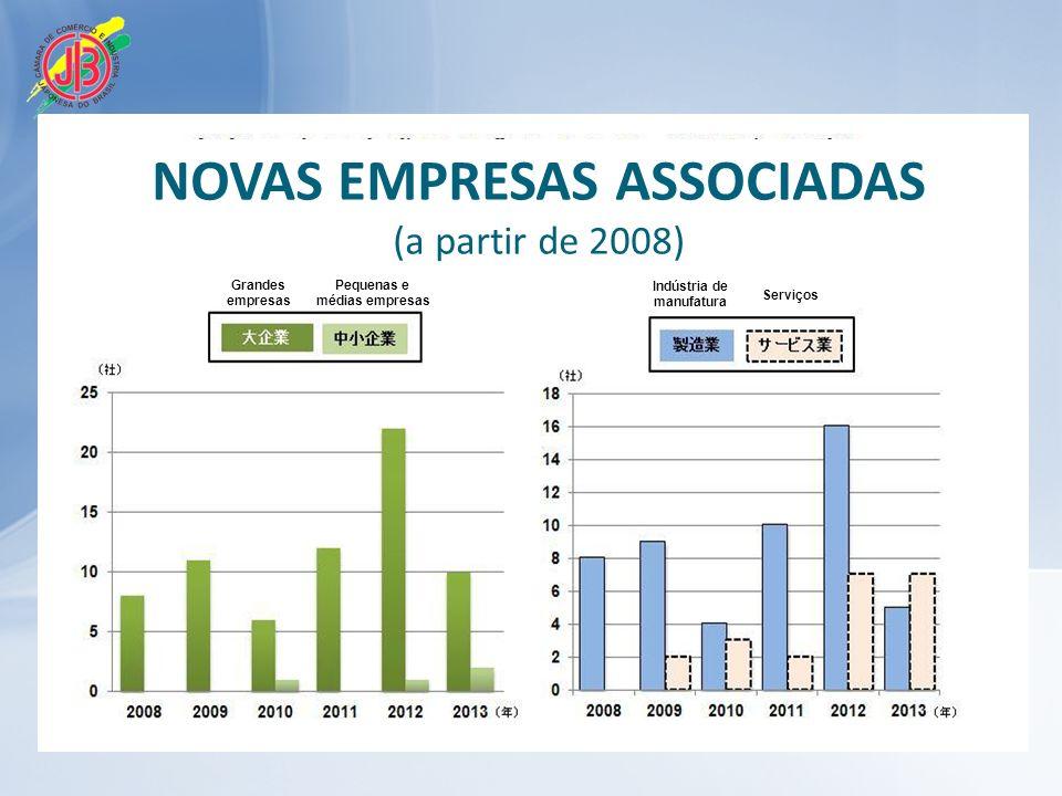 Grandes empresas Pequenas e médias empresas Indústria de manufatura Serviços NOVAS EMPRESAS ASSOCIADAS (a partir de 2008)