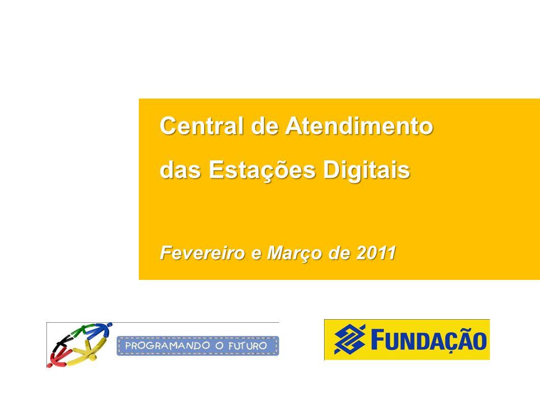 Central de Atendimento das Estações Digitais Fevereiro e Março de 2011