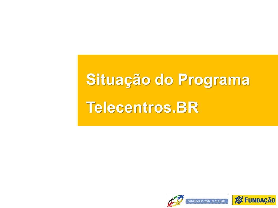 Situação do Programa Telecentros.BR