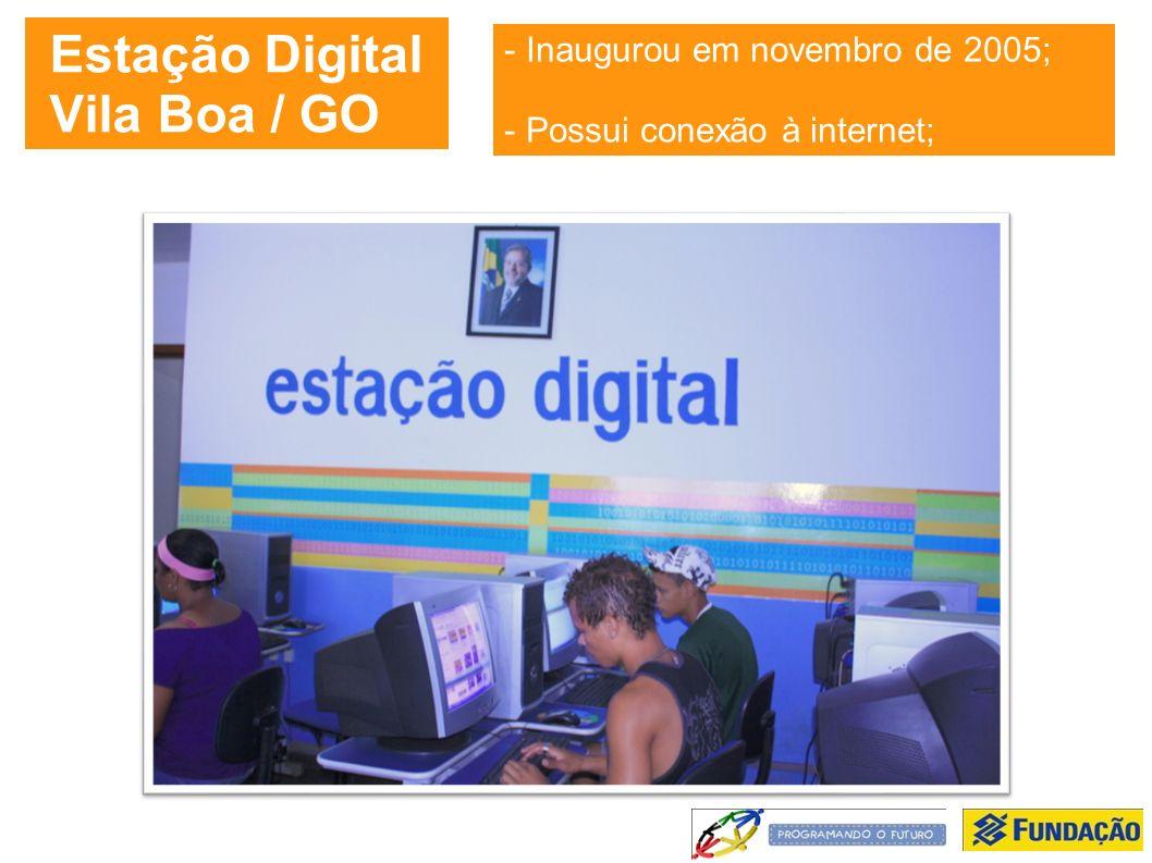 Estação Digital Vila Boa / GO - Inaugurou em novembro de 2005; - Possui conexão à internet;