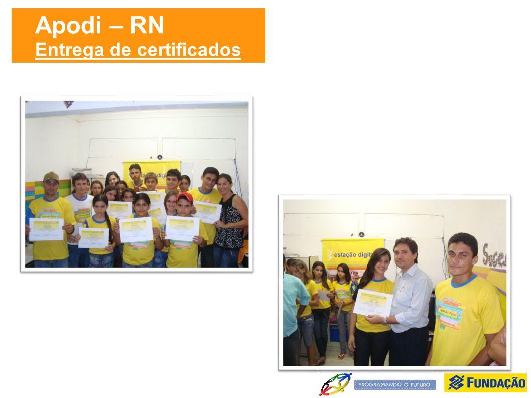 Apodi – RN Entrega de certificados