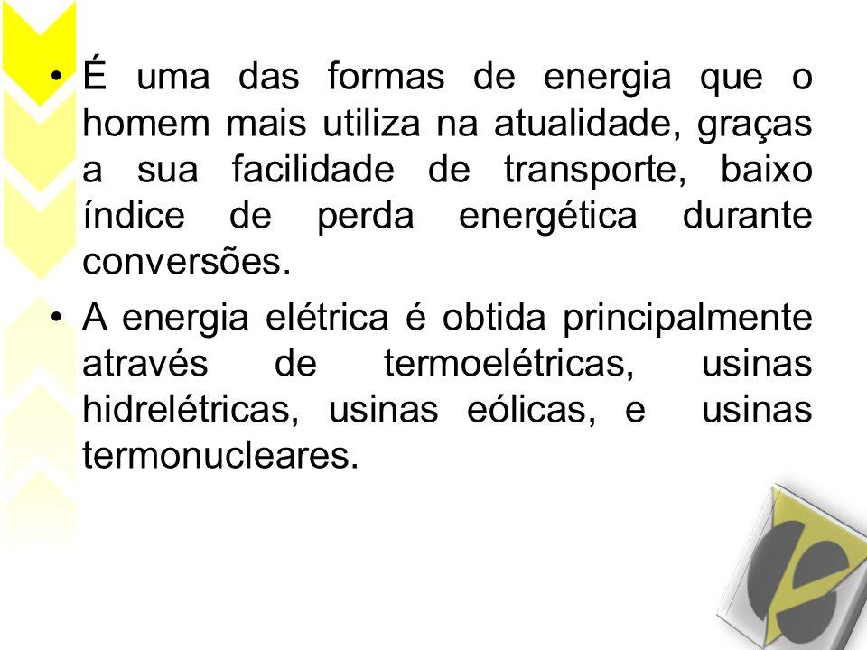 É uma das formas de energia que o homem mais utiliza na atualidade, graças a sua facilidade de transporte, baixo índice de perda energética durante co